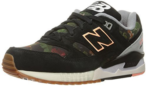 New Balance Women's W530 Classic Running Fashion Sneaker, Black/Steel/Cosmic Cor