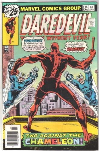 Daredevil Comic Book #134 Marvel Comics 1976 VERY FINE-