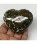 "190.2g, 2.4""x2.9""x1.2"" Ocean Jasper Heart Polished Healing Crystal, B4937 - $21.47"