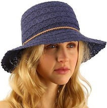 CC Everyday Lace Cloche Summer Derby Beach Pool Bucket Crushable Sun Hat... - $39.68