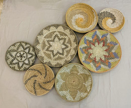 Set of 7 Assorted African Wall Baskets - Wall Basket Hanging - Assorted ... - $165.00