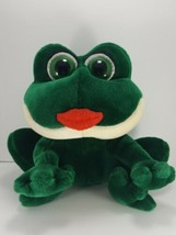 "Russ Berrie Green Kissing Frog Smooches Kissing Sounds 11"" Valentine Plu... - $21.77"