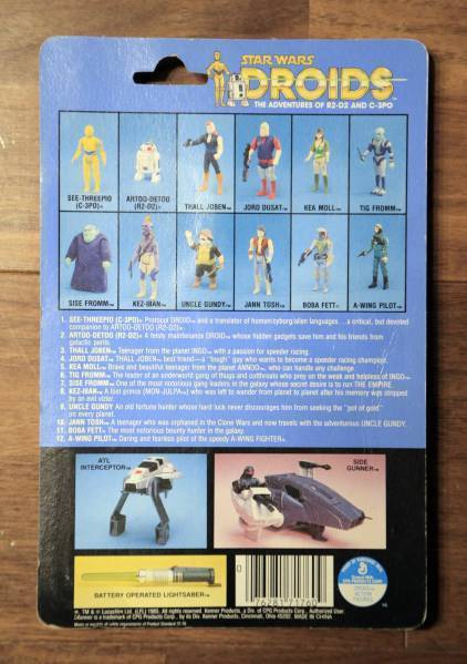 rare! Star Wars Character Goods Old Kenner DROIDS Jean Tosh Coin TV Series Kenne