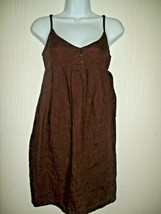 Old Navy Womens Dress Juniors Size XS Brown Linen Spagetti Strap Casual  - $19.57