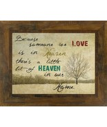 HEAVEN new Wall print in Handcrafted Wood Frame  - $36.10