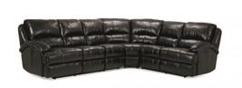 MYCO Furniture Capri Modern Black Leather Air Recliner Sectional - $3,050.00