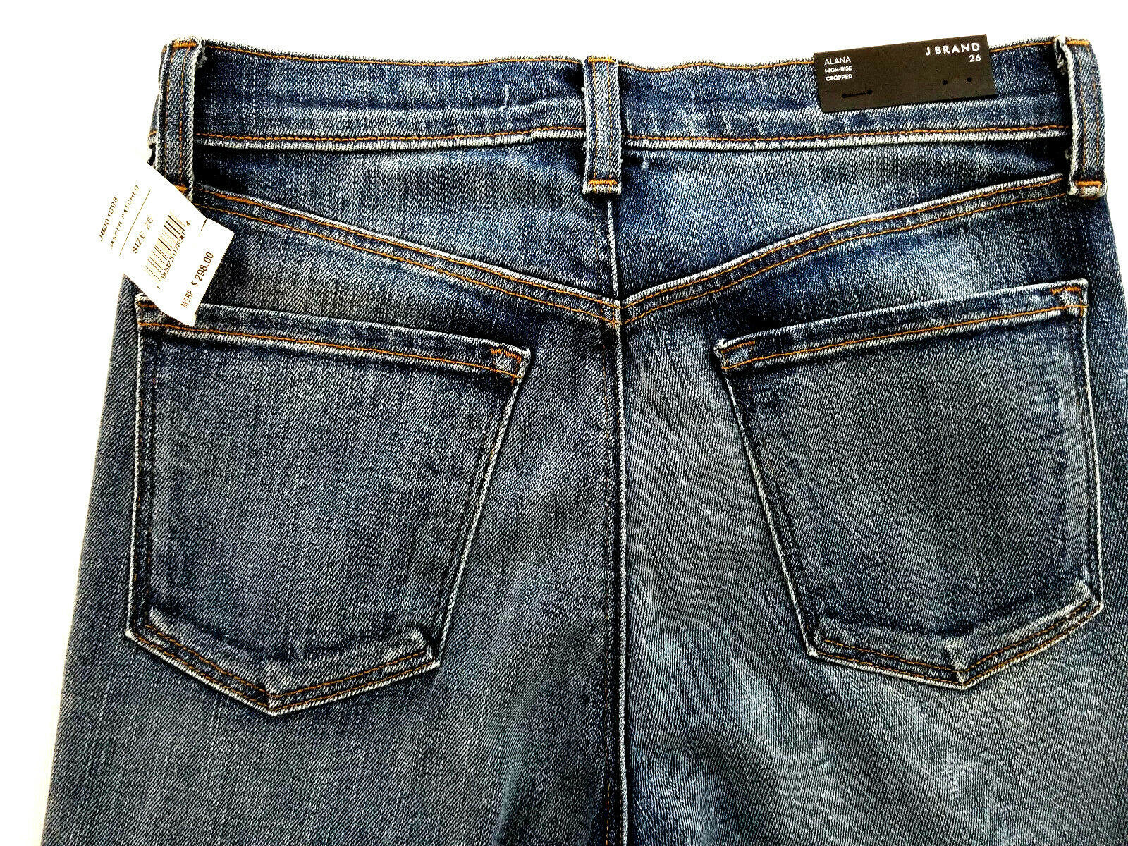 new J BRAND women jeans Jasper Patched JB001098 high rise crop 26 blue MSRP $298 image 9