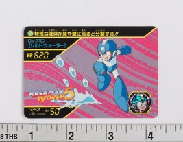 Rockman World 5 Trading Card #176 BANDAI CAPCOM 1994 Mega Man - $3.84