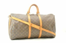 LOUIS VUITTON Monogram Keepall Bandouliere 55 Boston Bag M41414 LV Auth ... - $450.00