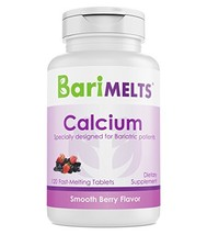 BariMelts Calcium Citrate, Dissolvable Bariatric Vitamins, Smooth Berry ... - $25.57