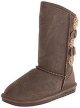 BEARPAW Women's Boshie Winter Boot, Chestnut/Distressed, 6 M US