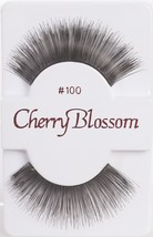CHERRY BLOSSOM EYELASHES MODEL# 100 -100% HUMAN HAIR BLACK 1 PAIR PER PACK - $1.48+