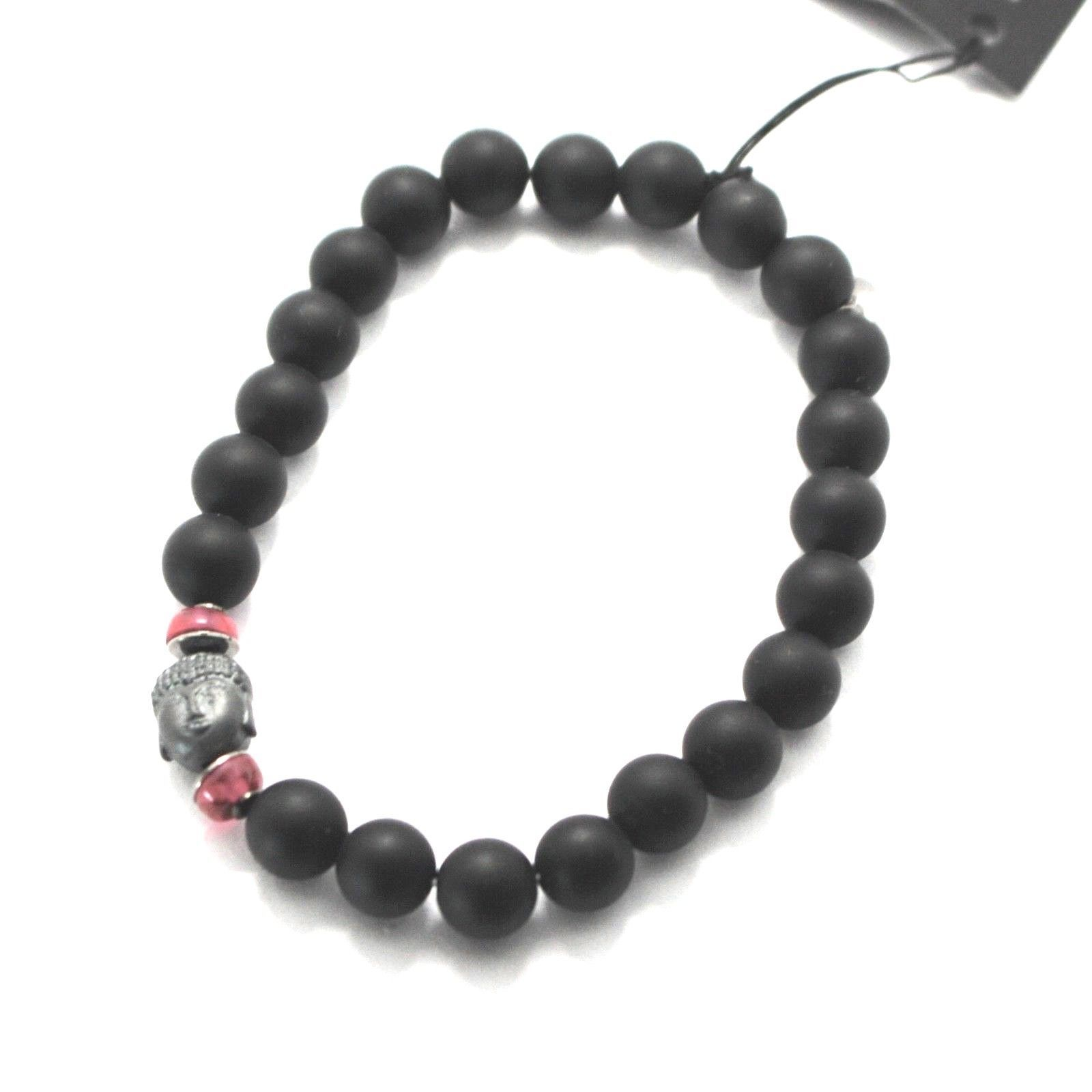 BRACCIALE IN ARGENTO 925 CON EMATITE E ONICE BPR-4 MADE IN ITALY BY MASCHIA