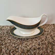 """Royal Doulton Carlyle Gravy Boat Sauce Bowl w/ Underplate 9 1/8"""" x 5 3/4""""  - $71.68"""
