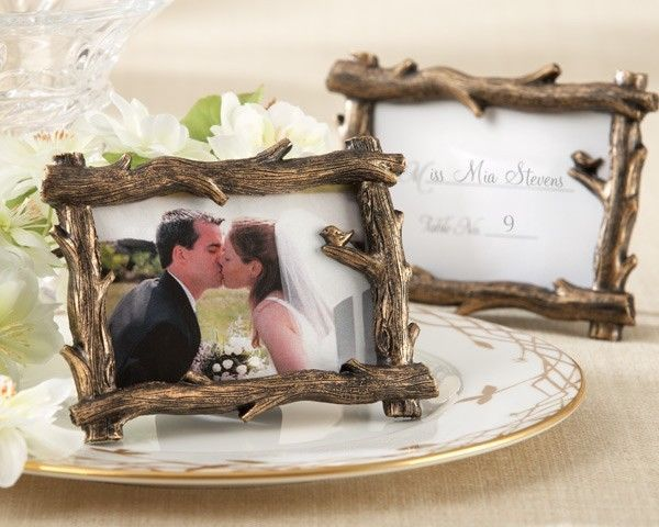 50 Rustic Fall Tree Branch Photo Frame Place Card Holder Forest Wedding Favor