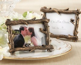50 Rustic Fall Tree Branch Photo Frame Place Card Holder Forest Wedding ... - $85.45