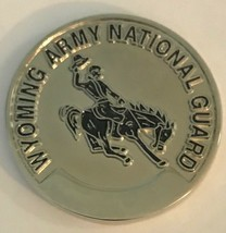 US Army National Guard Wyoming Command Sergeant Major Bucking Bronco Coin - $39.59