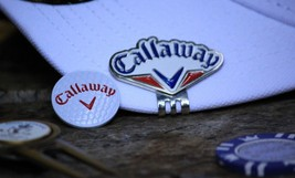 Callaway Red White & Blue Ball Marker & Hat Clip / Fan Style / Japan - $10.51