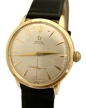 Vintage Omega Bumper Automatic Silver Dial 33mm Gold Filled 1950s Watch - $800.00