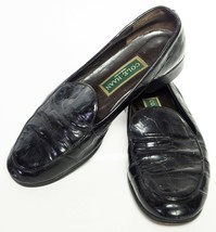 Cole Haan Women's Black Leather Slip On Loafers Shoes Size 7.5 M - $4.92