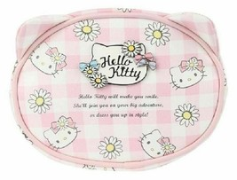 Sanrio Hello Kitty Face Pouch Cosmetic Bag: Daisy Patch NEW W TAG - $25.00