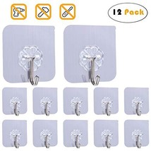 Adhesive Hook Heavy Duty Wall Hook for Ceiling Reusable Hanger for Bathroom Stic image 1