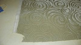 Celadon Green Swirl Print Velvet Upholstery Fabric 1 Yard  R558 - $29.95