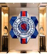 Rangers F.C. Wall Art Canvas Painting Poster Decor Framed 7 Hexagon Panels. - $94.99+