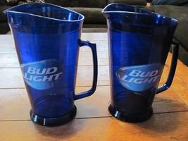Lot of 2 Bud light NFL Beer pitcher 64 oz Bar Pub Restaurant Grimm Indus... - $34.99