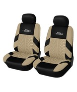 AUTOYOUTH Brand Embroidery Car Seat Covers(beige 2 pieces) - $19.39