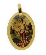 18k San Lazaro Medal Gold Plated Medal Pendant Chain Babalu Aye Necklace... - $12.75