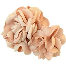 The Simulation Flower Clip Hairpin Go Tire Headdress Flower(Champagne)
