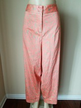 Lane Bryant Women's Pants Coral Floral Print Stretch Cotton Casual Size 28 - $22.31