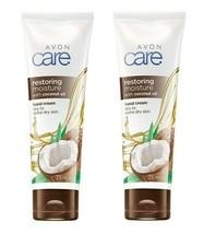 2 x Avon Care Hand Cream restoring moisture with coconut oil -  75ml each -  new - $7.34