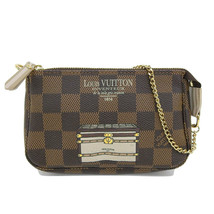 Auth Louis Vuitton Damier trunk Pochette access Soir pouch N63181 - $584.45