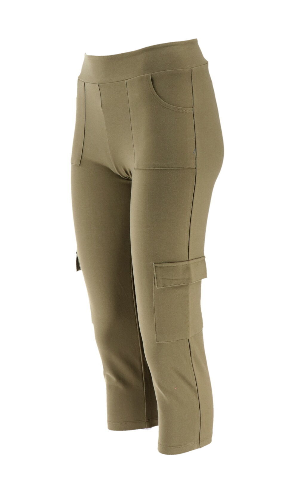Women with Control Cropped Cargo Pants Washed Olive PXXS NEW A264076