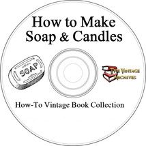 How to Make Soap & Candles Vintage Book Collection on CD - $5.20