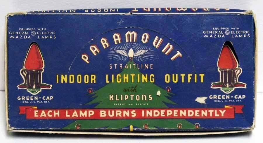Primary image for Vintage C-7 Paramount Christmas Lights IOB
