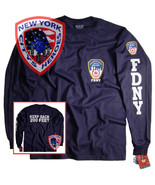 FDNY T-Shirt Long Sleeve Officially Licensed by New York City Fire Depar... - $22.99