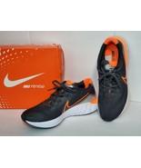 Nike Men's Renew Run Black Total Orange Running Shoes Sz 9.5 Style CK635... - $56.09