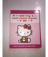 NEW - Hello Kitty Cute Cross-Stitch Kit 2011 rare Ages 8 and up  - $14.01