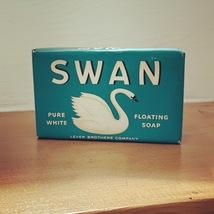 Vintage 40's SWAN Floating Soap - Large Size (new/sealed in original packaging)