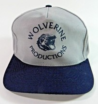 Wolverine Productions Baseball Cap Hat Strapback Blue and Gray - $14.80