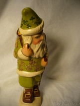Vaillancourt Folk Art Irish Santa with Basket O' Luck Signed no. 20017 image 2
