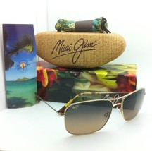 Polarizados Gafas Sol Maui Jim Titanio Wiki Mj 246-16 Marco Dorado Lente... - $298.67