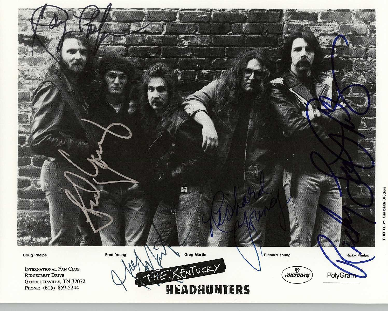 Primary image for The Kentucky Headhunters Band Signed Autographed Glossy 8x10 Photo