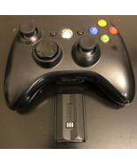 Official Microsoft Xbox 360 BLACK Wireless Controller Original OEM Tested - $19.80
