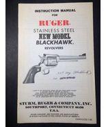 1980 Ruger New Model Blackhawk Stainless Revolver Instruction User Safet... - $13.85