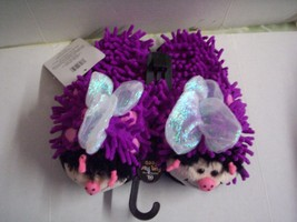 Slippers, Girls, Fuzzy Butterfly, Purple, Fits Up to 2, Brand New - $9.99