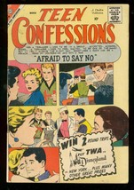 TEEN CONFESSIONS #4 1960-CHARLTON ROMANCE-THRILLS-SPICE VG - $25.22